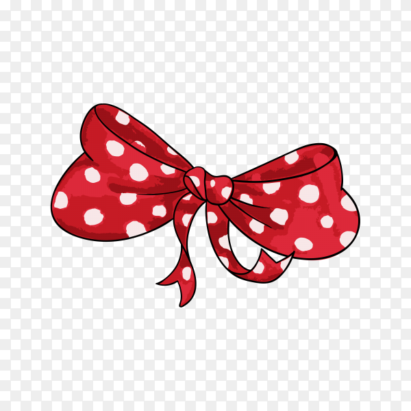 Gift bow hand drawn illustration on transparent background PNG.png