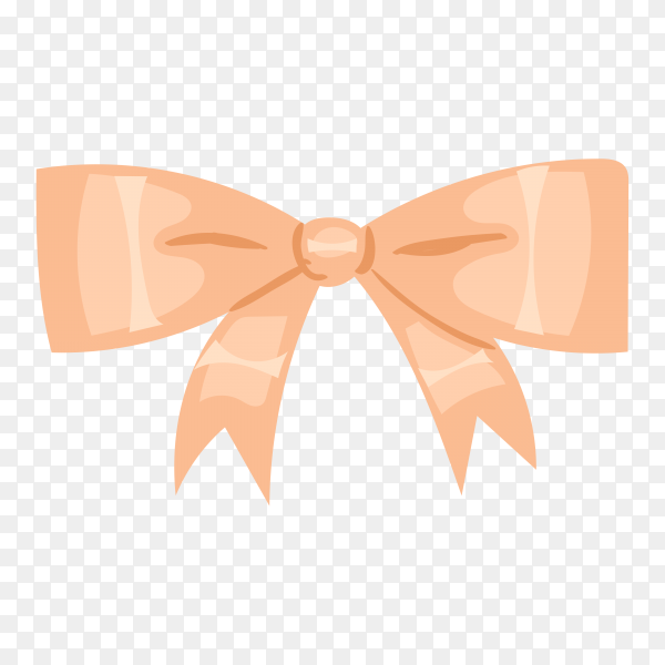Gift bow in flat design on transparent background PNG.png