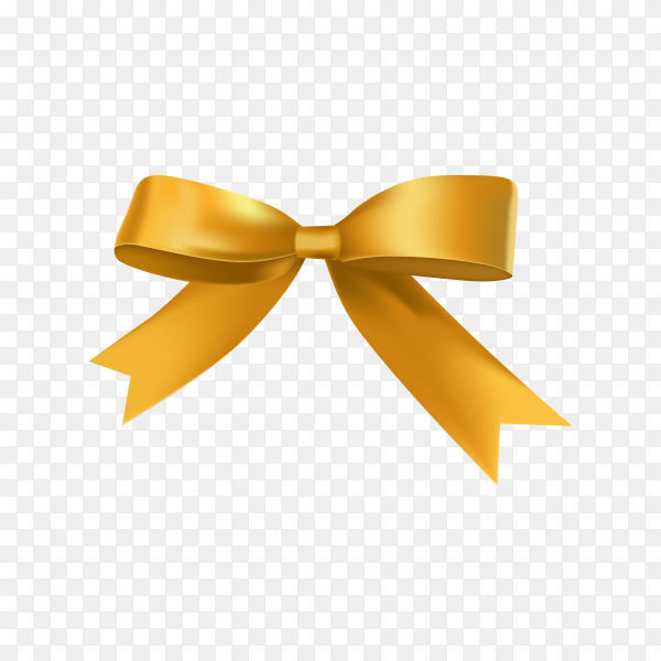 Golden bow template on transparent background PNG.png