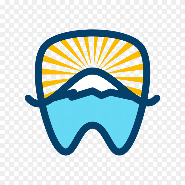 Gradient modern logo of a dental clinic on transparent background PNG.png