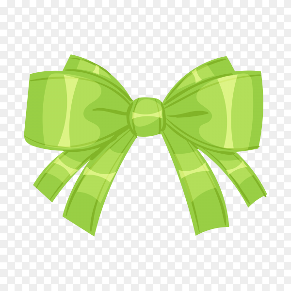 Green Bow or ribbon for decorating gifts on transparent background PNG.png