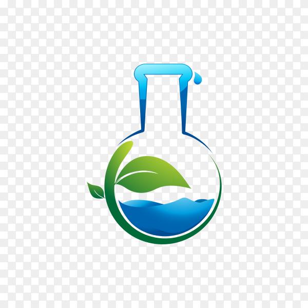 Green Lab Logo Template Design on transparent background PNG