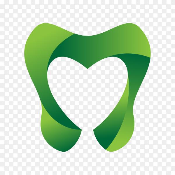 Green dental care logo on transparent background PNG.png