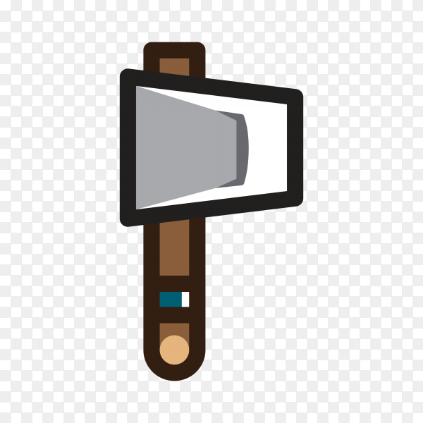 Hand drawn Axe for creating video game Clipart PNG