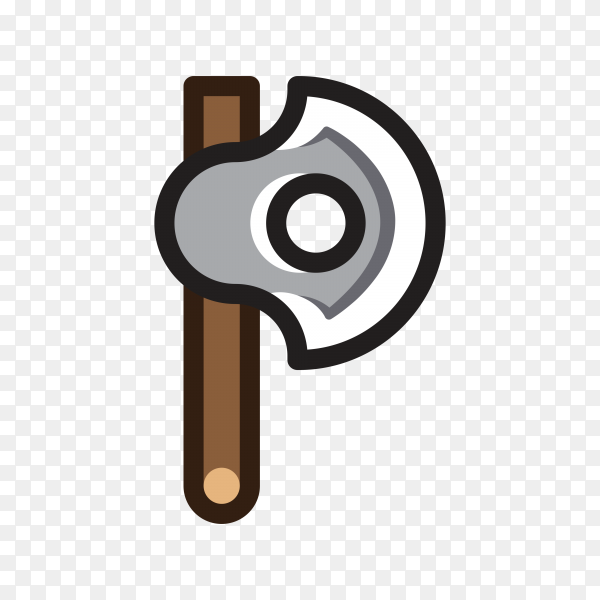 Hand drawn Axe isolated on transparent background PNG