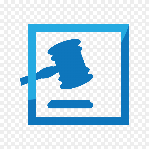 Hand drawn Law firm logo icon design. lawyer logo design on transparent background PNG