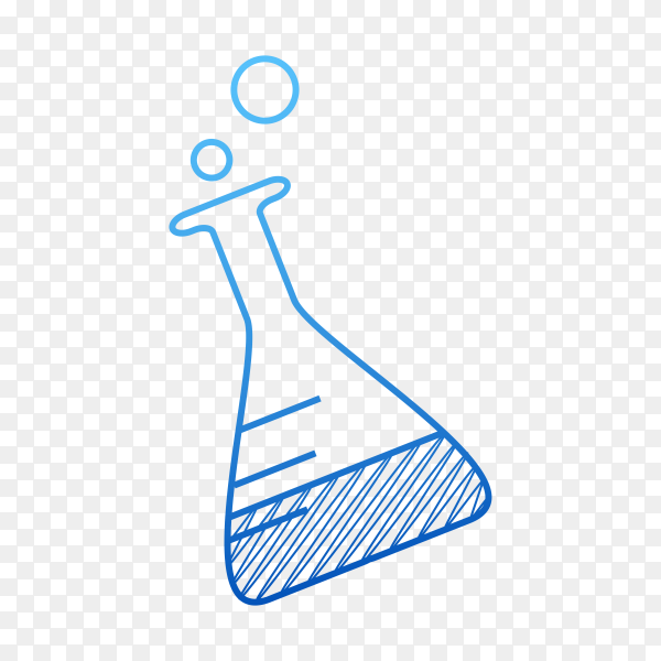 Hand drawn Test-tube isolated on transparent background PNG