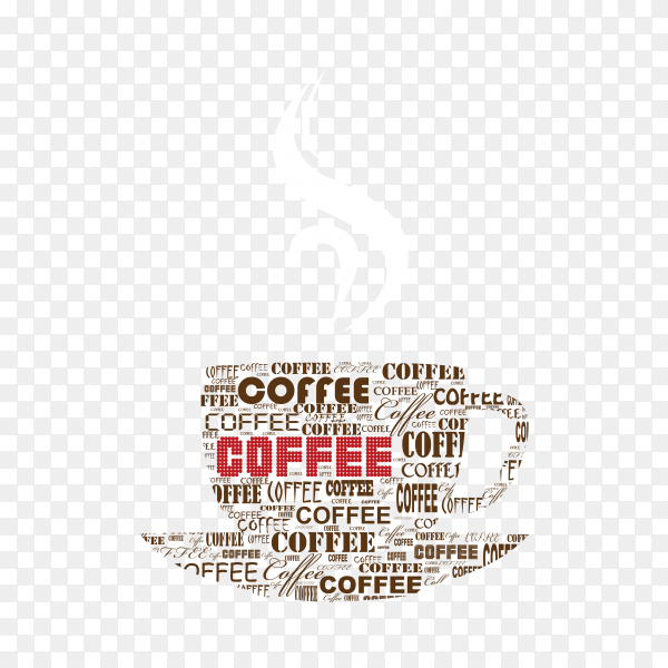 Hand drawn a cup of coffee on transparent background PNG