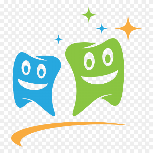 Hand drawn cartoon teeth on transparent PNG.png