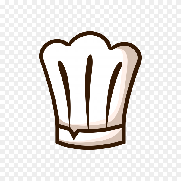 Hand drawn chef hat on transparent background PNG