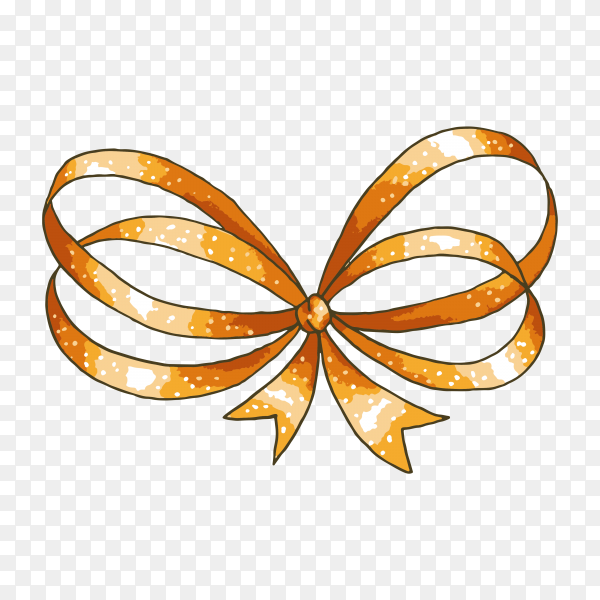Hand drawn gift bow premium vector PNG.png