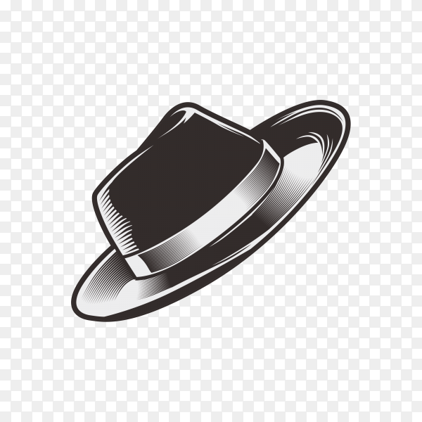 Hand drawn hat on transparent background PNG.png
