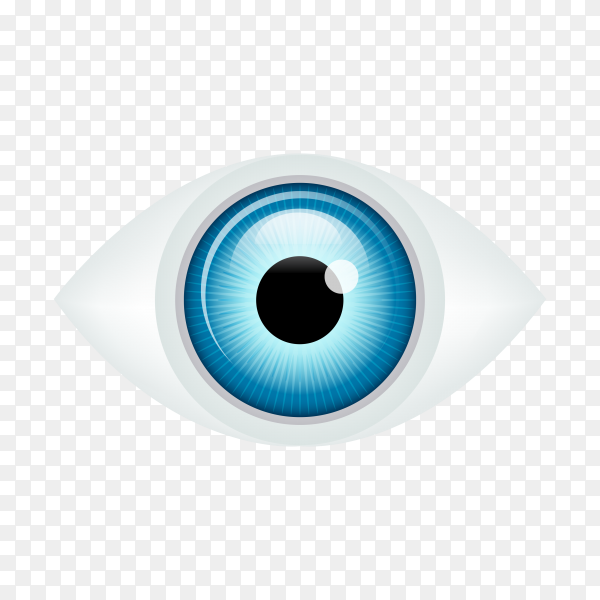 Hand drawn human eye on transparent background PNG