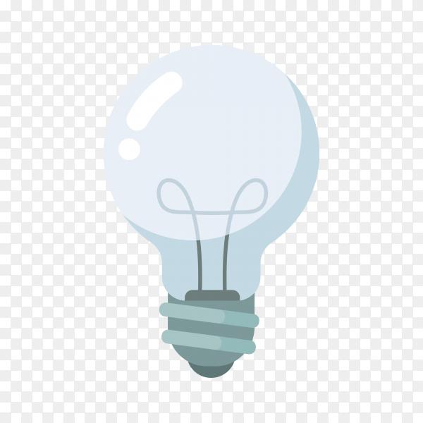 Hand drawn light bulb illustration on transparent background PNG