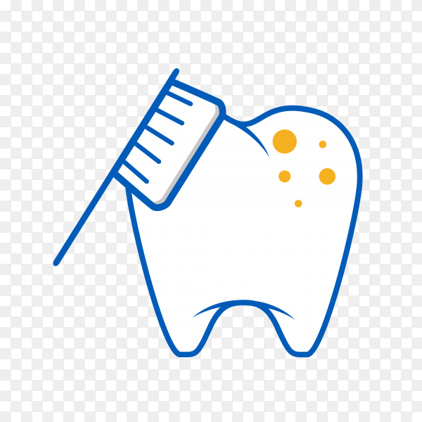 Hand drawn teeth icon on transparent background PNG.png