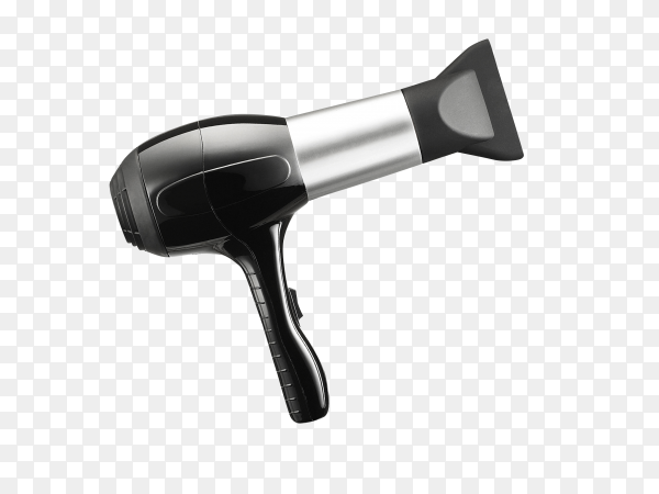 Hand-held hair dryer for hair salon or barber shop isolated on transparent background PNG