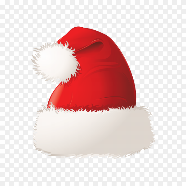 Hat of santa claus isolated on transparent PNG.png