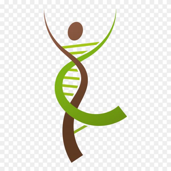 Human DNA logo icon design premium vector PNG