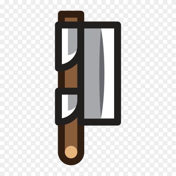 Illustration of Axe for creating video game premium vector PNG