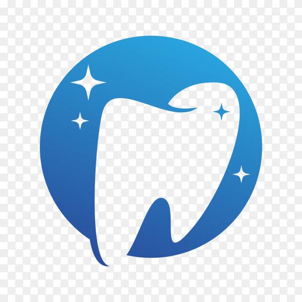 Illustration of Dental care logo template on transparent background PNG.png