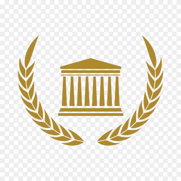 Illustration of Law – justice logo design template on transparent background PNG