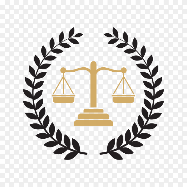 Illustration of Law Firm logo and icon design on transparent background PNG