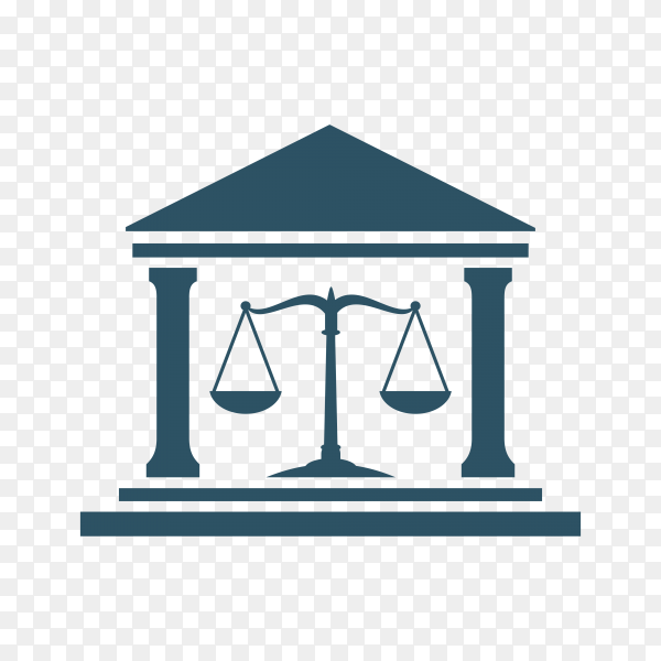 Illustration of Law Firm logo and icon design template on transparent background PNG