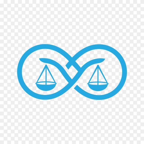 Illustration of Law firm logo icon design. lawyer logo design on transparent background PNG