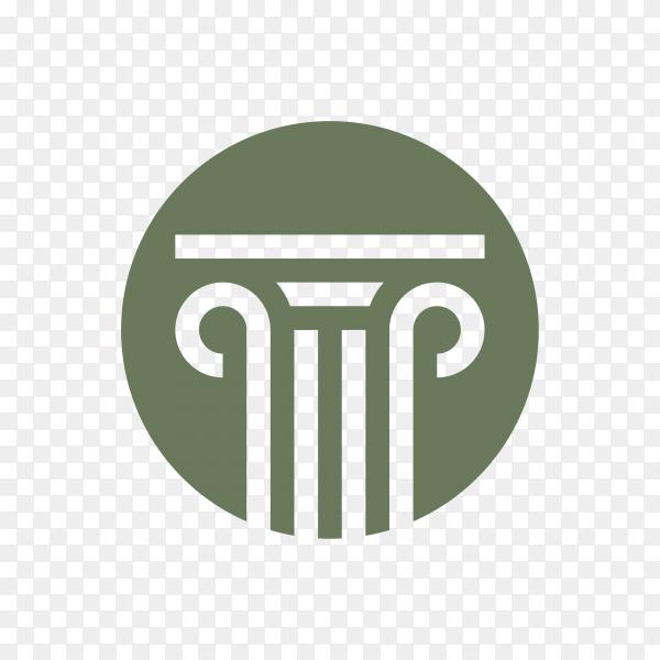 Illustration of Law firm office logo stock design on transparent background PNG