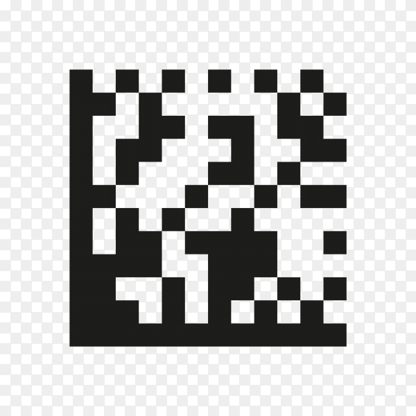 Illustration of Qr code icon on transparent background PNG