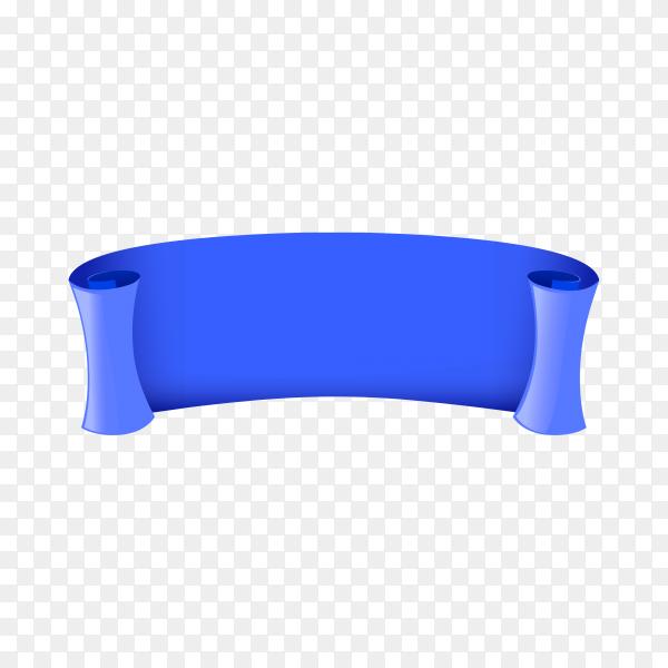 Illustration of blue banner template on transparent background PNG