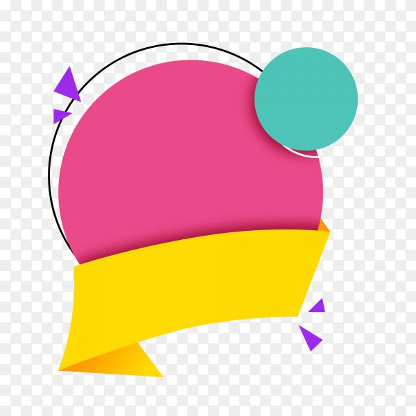 Illustration of colorful empty banner on transparent background PNG