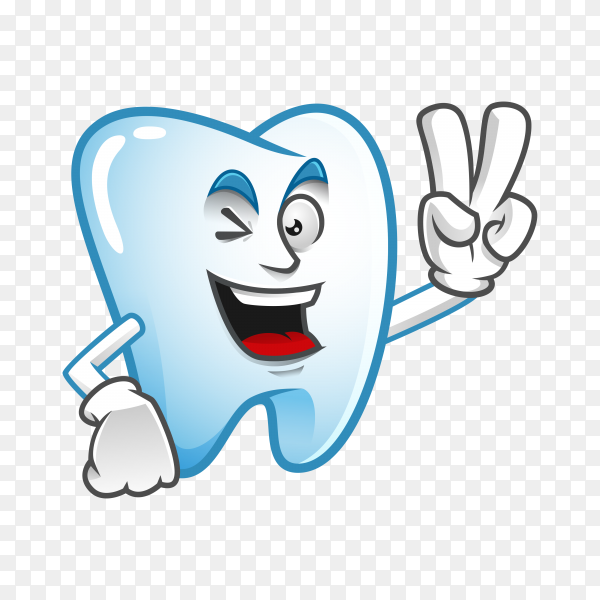 Illustration of cute Tooth mascot or character Clipart PNG.png