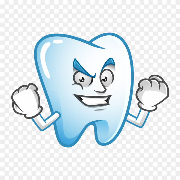 Illustration of cute Tooth mascot or character premium vector PNG.png