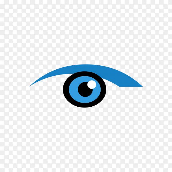 Illustration of eye icon on transparent background PNG