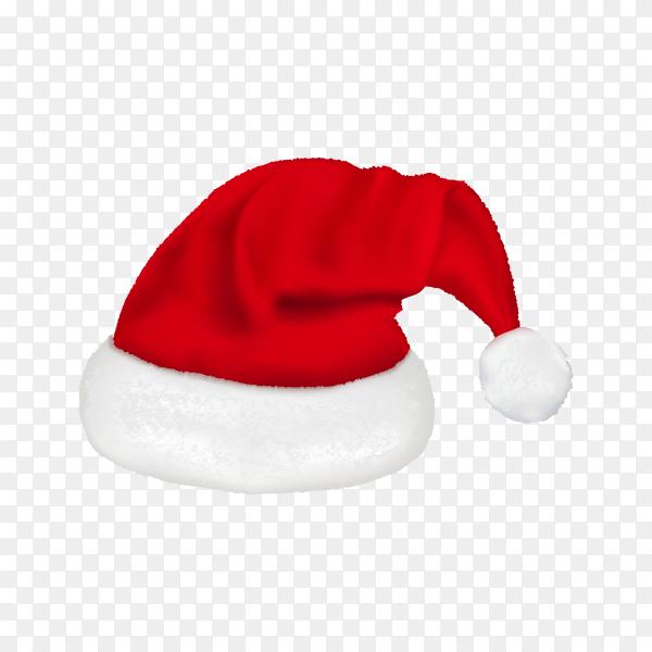 Illustration of red santa hat on transparent background PNG.png
