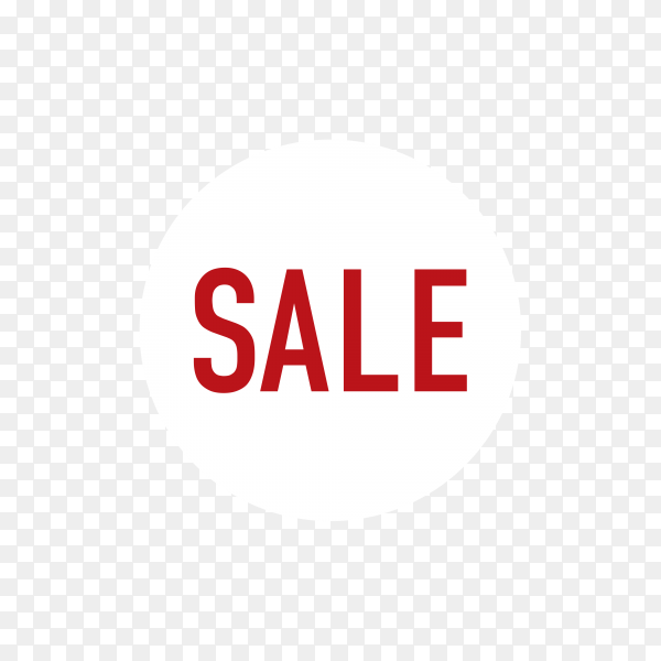 Illustration of sale banner with text on transparent background PNG