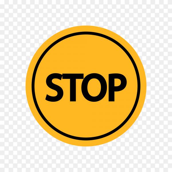 Illustration of stop signal sign on transparent background PNG