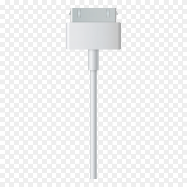 Illustration of USB cable for smartphone charger on transparent background PNG