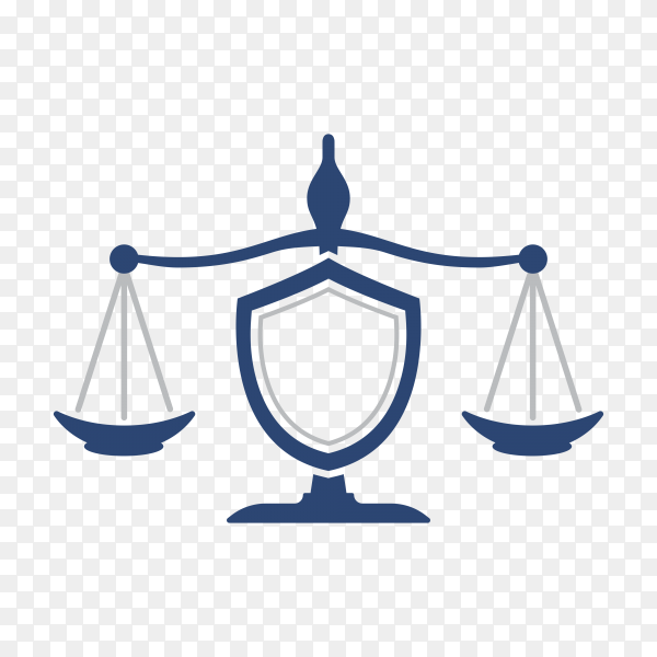 Justice and law logo, creative simple logo for lawyer identity premium vector PNG