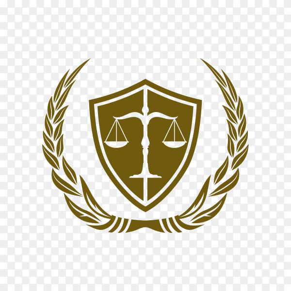 Justice law badge logo design template. emblem of attorney logo design premium vector PNG