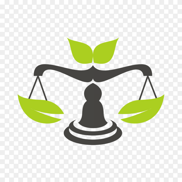 Justice law legal logo icon template on transparent PNG
