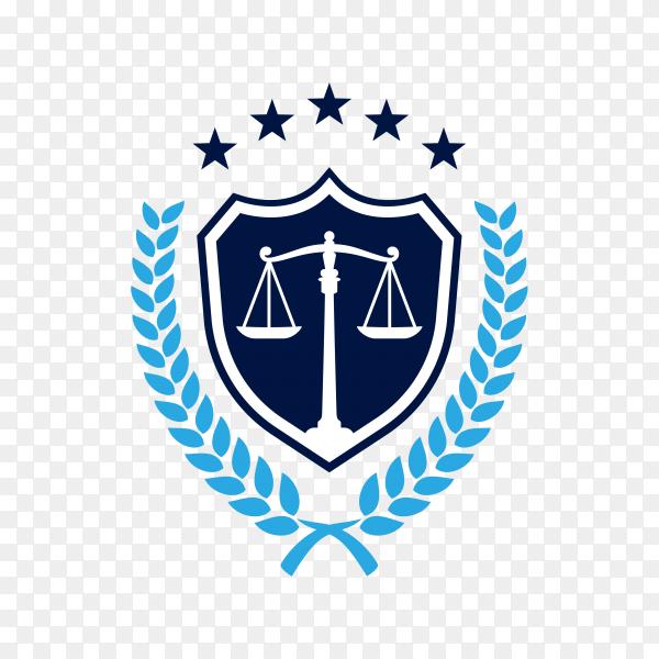Justice law logo design template. attorney logo premium vector PNG