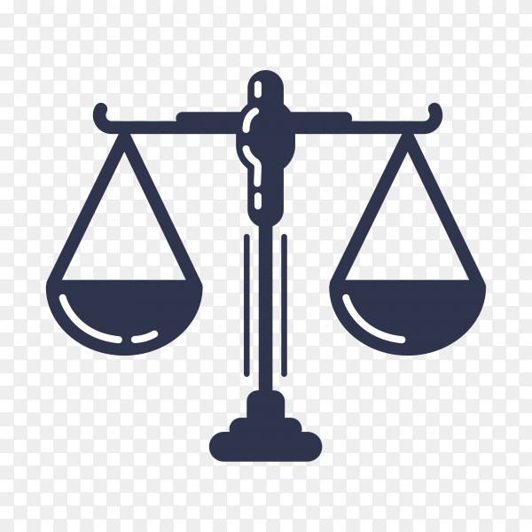 Justice law logo template isolated on transparent background PNG