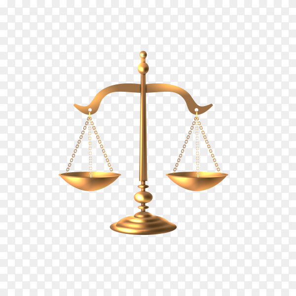Justice scale logo and symbol on transparent background PNG