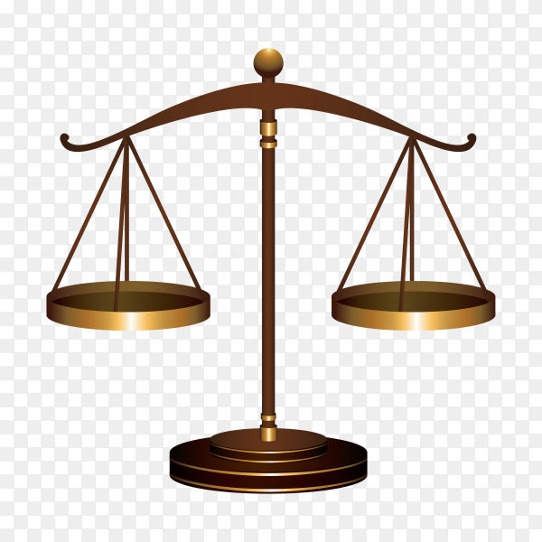 Justice scale logo and symbol template on transparent background PNG