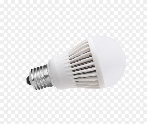 LED energy saving bulb. Light-emitting diode. Isolated on transparent background PNG