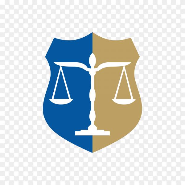 Law – justice logo design template illustration on transparent background PNG