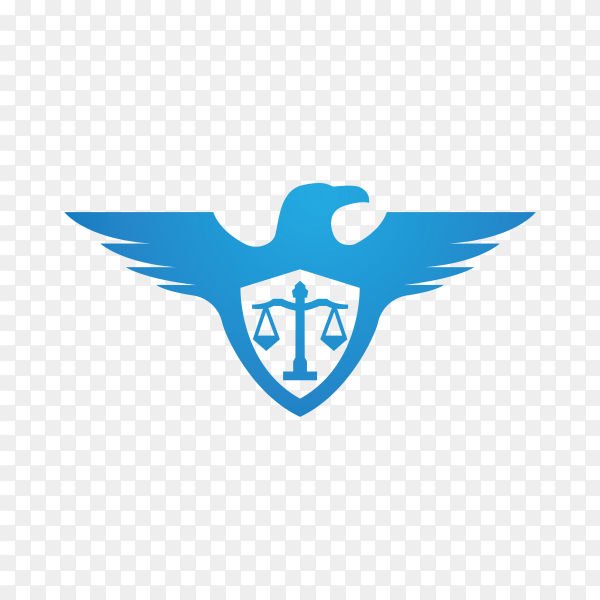 Law – justice logo design template on transparent PNG