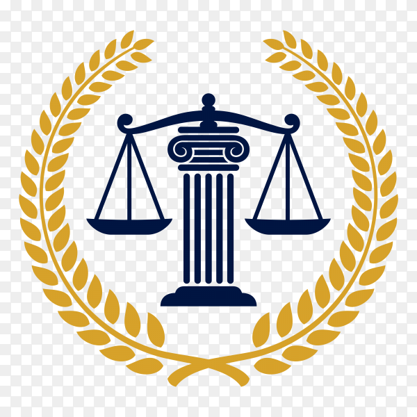 Law – justice logo design template on transparent background PNG